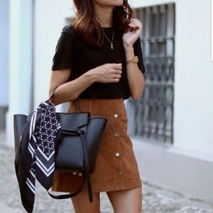 NEW! Faux Suede Skirt